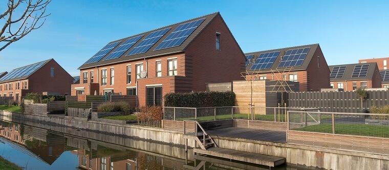 Schuin dak voorbeeld zonnepanelen