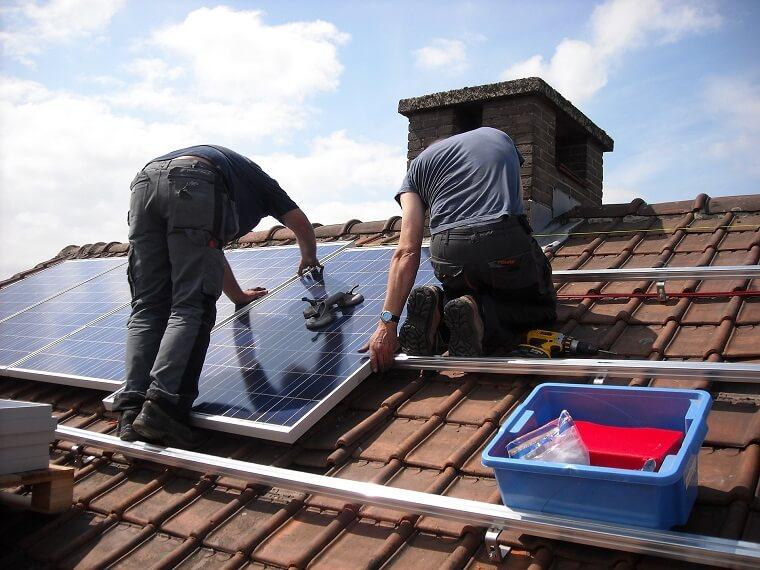 Plaatsing zonnepanelen