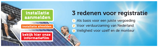 Registreren zonnepanelen